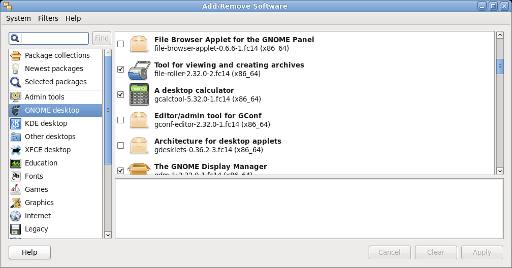Chapter 3  The gnome-packagekit GUI